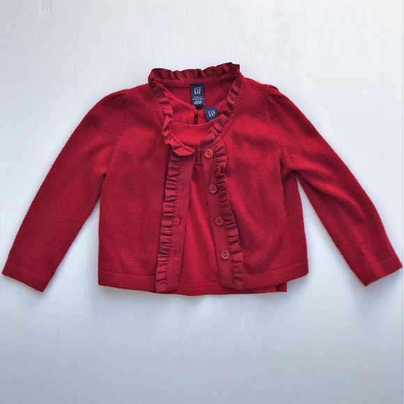 Baby Gap Holiday Red 2 pc Sweater Set 18-24 months